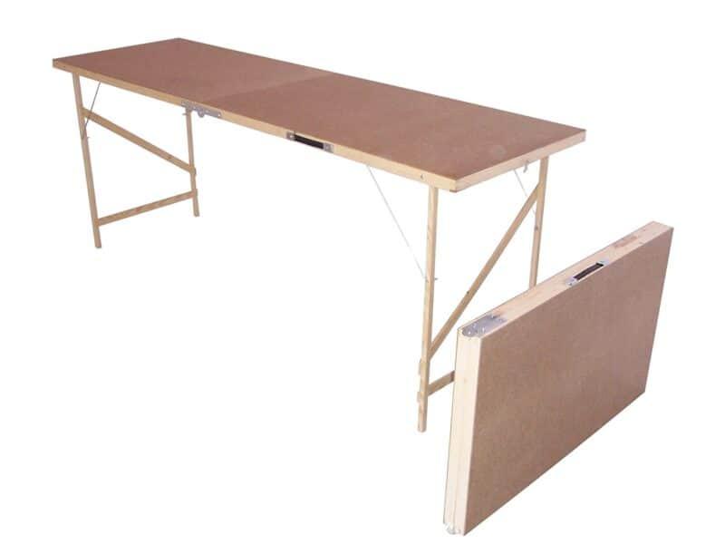 Hardboard pasting table