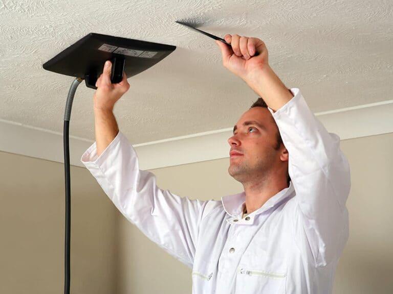 Using a steam stripper on an artex ceiling