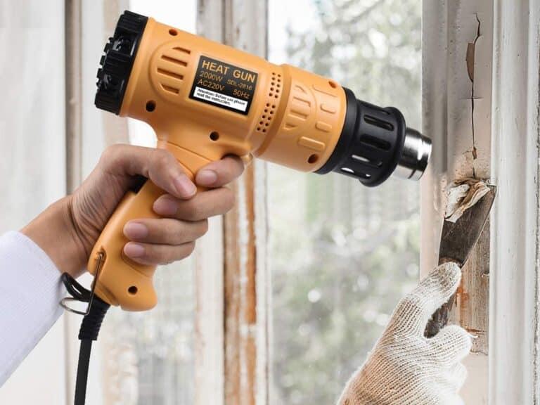 Stripping paint with a heat gun